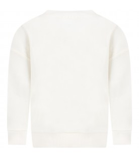 White ''Maxi'' sweatshirt for kids