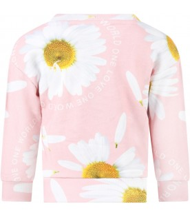 Pink ''Manon'' sweatshirt for girl