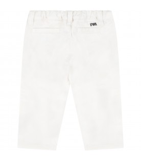 White trouser for babyboy with iconic eagle