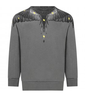 Gray sweatshirt for boy with iconic wings