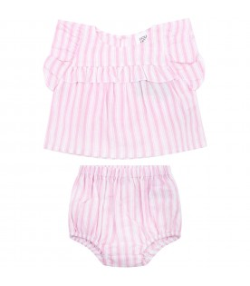 Striped suit for babygirl