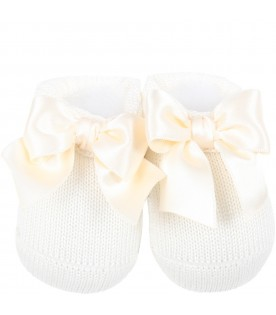 Ivory suit for babygirl with bow