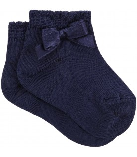 Blue socks for babygirl