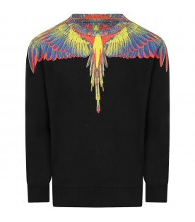Black sweatshirt for kids with iocni wings