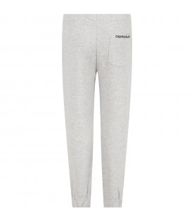 Grey sweatpants for girl with logo
