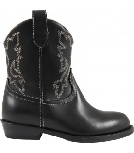 Black texan boot for girl