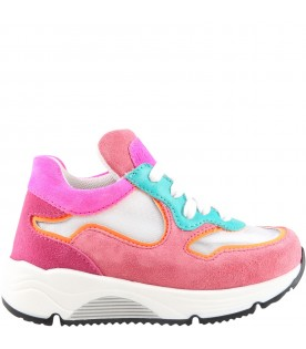 Multicolor sneakers for girl with logo