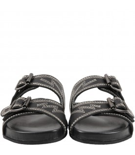 Black sandals for kids