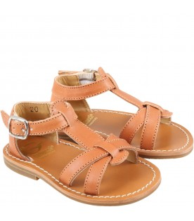 Brown sandales for girl