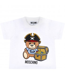 Multicolor suit for babyboy with pirate teddy bear