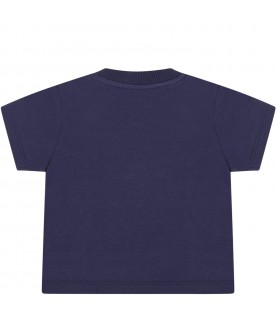 Blue t-shirt for babyboy with logo