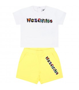Multicolor suit for babyboy with logo