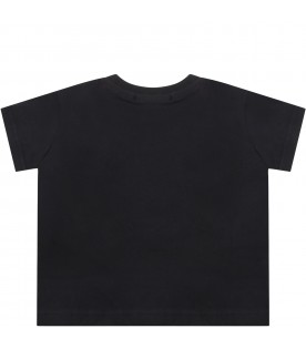 Black t-shirt for babykids with logo