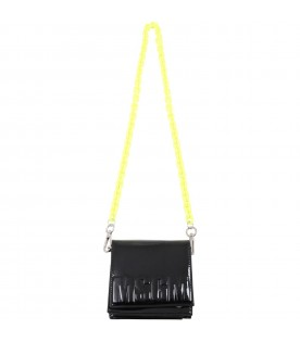 Black clutch for girl with logo