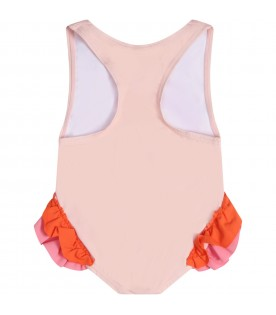 Pink swimsuit for babygirl