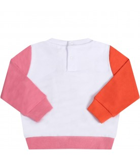 White sweatshirt for babygirl with