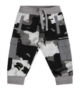 Multicolor sweatpants for babyboy with logo