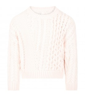 Pink sweater for girl