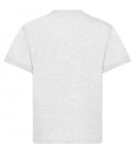 Grey t-shirt for boy with monster