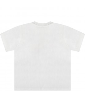 White t-shirt for babyboy with prints