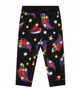 Black sweatpants for girl with stars