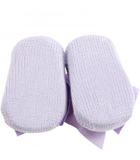 Lilac baby bootee for babygirl