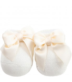 Ivory baby bootee for babygirl