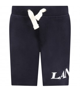 Blue short for boy with logo