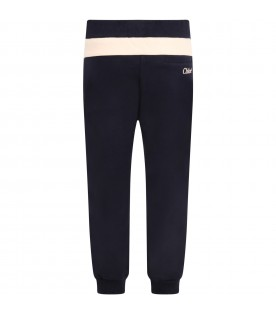 Blue sweatpants for girl with logo