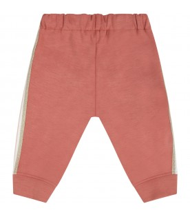 Brick sweatpants for babygirl with logo