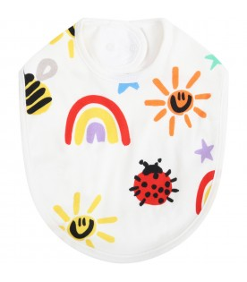 White set for babykids with colorful prints
