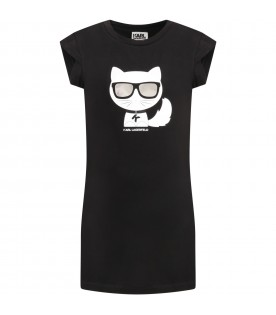 Black dress for girl with choupette