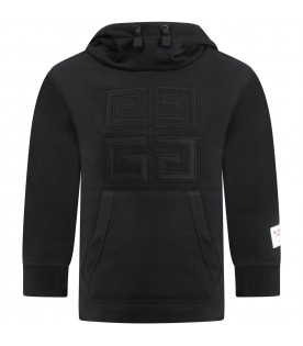 Black sweatshirt for kids with 4G