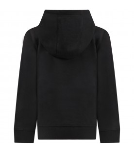 Black sweatshirt for girl with logo