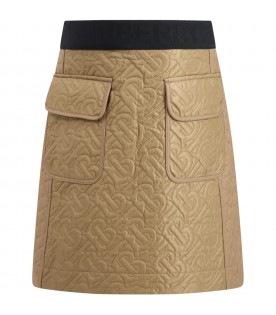 Beige skirt for girl