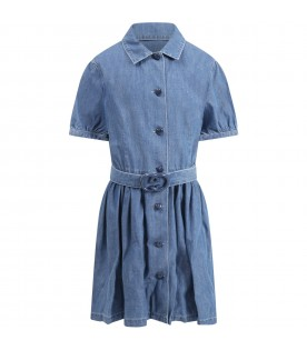 Blue dress denim for girl