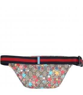 Beige bum bag for kids with stars