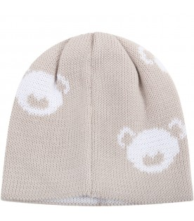 Beige hat for babyboy