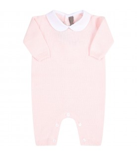 Pink babygrow for babygirl with bear