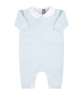 Light blue babygrow for babyboy with bear