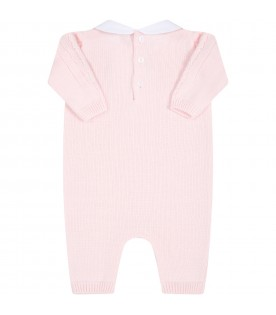 Pink babygrow for baby girl
