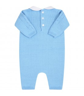 Light blue babygrow for baby boy