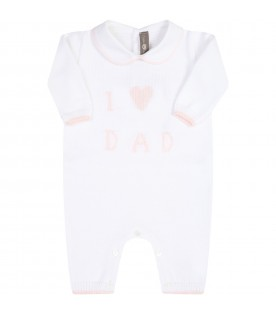 White babygrow for babygirl