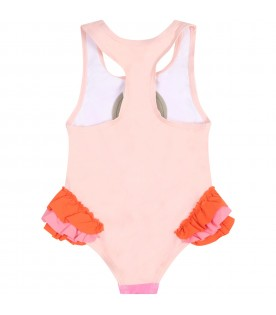 Pink swimsuit for girl