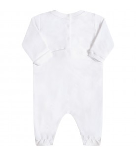 White babygrow for babykids with teddy bear