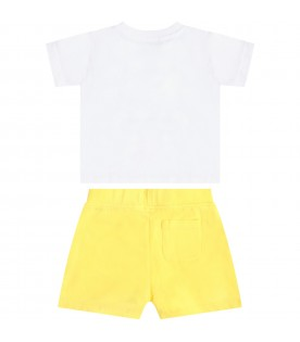 Multicolor suit for babykids with teddy bear