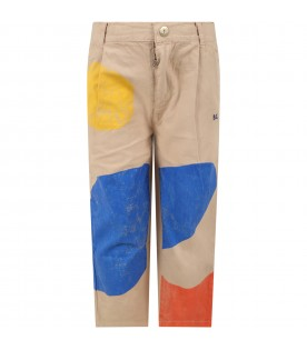 Beige trouser for boy with spots