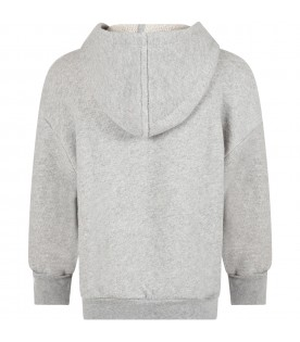 Grey sweatshirt for boy with writing