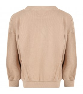 Beige sweatshirt for kids with pepper