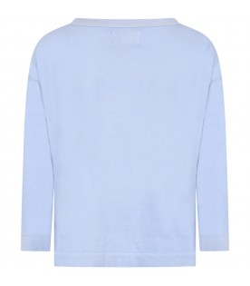 Light blue t-shirt for boy with pepper